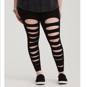 Torrid black shredded Legging